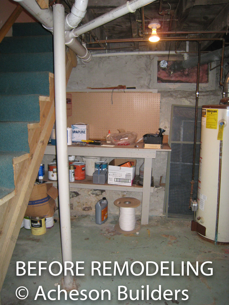 photo of basement stairs before acheson-builders-2nd-Street-Ann-Arbor-BEFORE--2