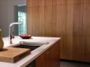 Custom Kitchen Sink and Matching Floor-to-Ceiling Alder Veneer Cabinets