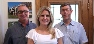 photo of Kimble Wright, Lauren Schaefers, and Jim Acheson
