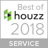 house logo and text Houzz Best of Service 2018