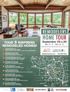 photo brochure for Remodelers Home Tour 2018 in and around Ann Arbor Michigan