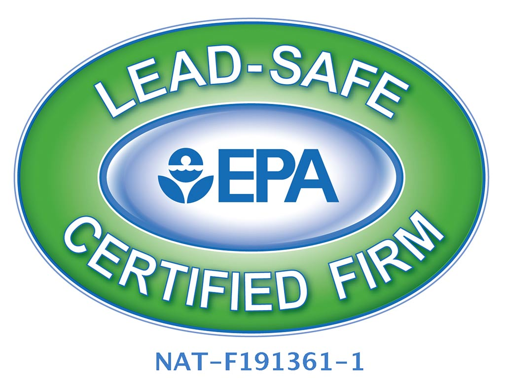 illustrated symbol of the United States Environmental Protection Agency's lead-safe certification for acheson builders